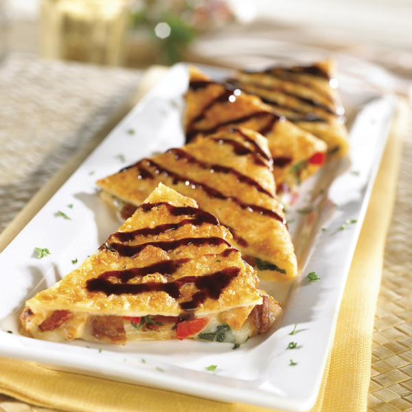 Parmesan-crusted-quesadilla